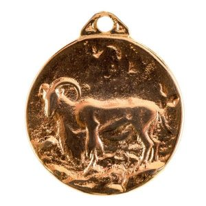 Medalla para homologación de trofeo de caza arrui