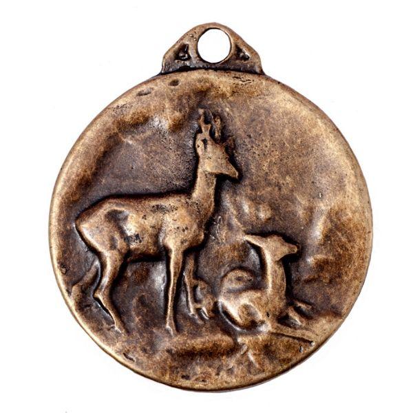 Medalla para homologación de trofeo de caza corzo