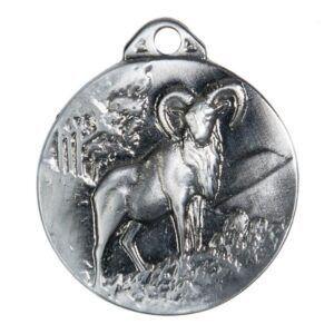 Medalla para homologación de trofeo de caza muflón