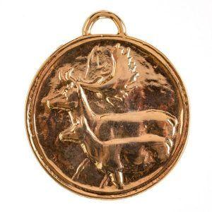 Medalla para homologación de gamo