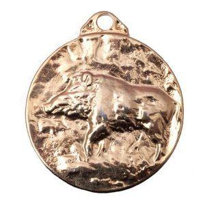 Medalla para homologación de trofeo de caza jabalí
