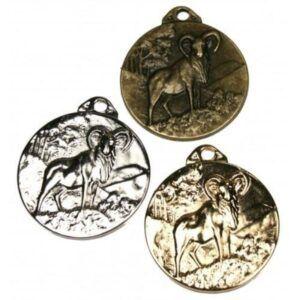 Medalla de homologación para macho montés