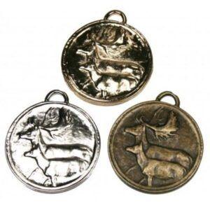 Medallas de homologación para gamo