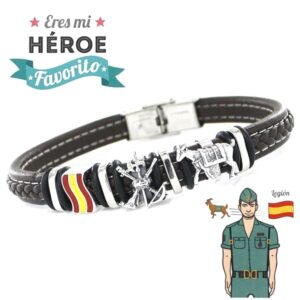 pulsera caballero legion plata heroe