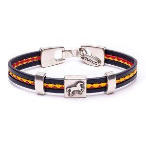 pulsera con caballo y bandera española