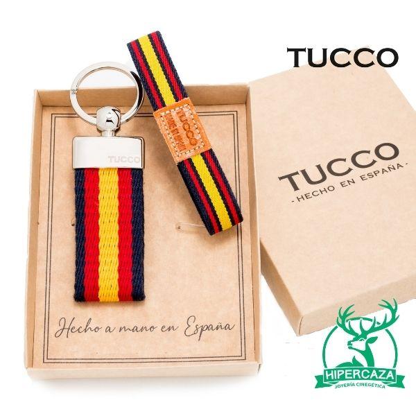 Conjunto llavero y pulsera con la bandera de España