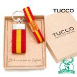 Conjunto de pulsera y llavero con bandera de España