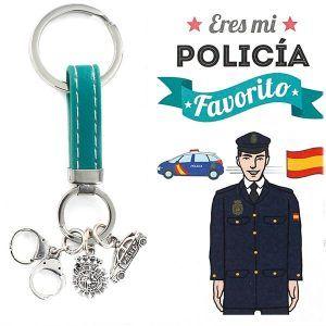 llavero del policia plata