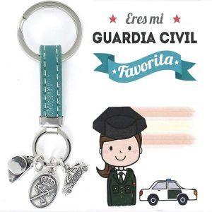 llavero plata mujer guardia civil