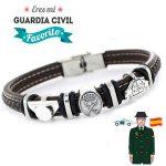 pulsera de la guardia civil caballero plata