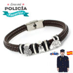pulsera del policia caballero plata