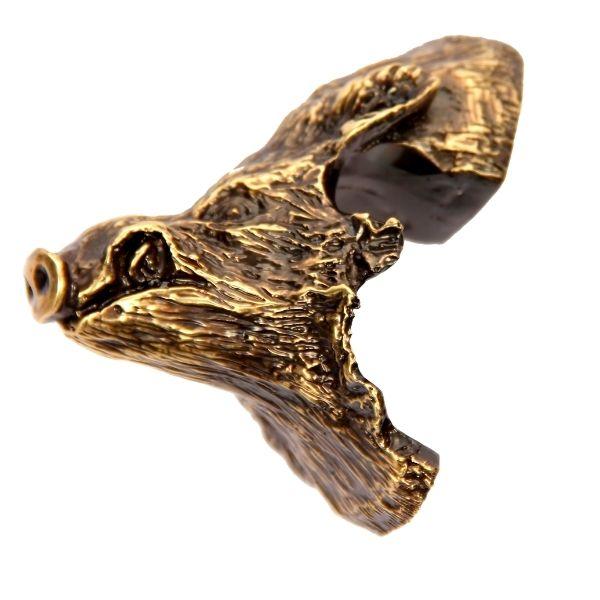 Cabeza de jabalí para encasquillar colmillos de jabalí