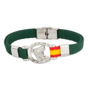 Pulsera con caballo y bandera de España