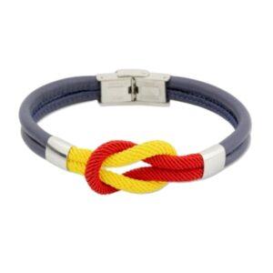 Pulsera con nudo de los colores de la bandera española