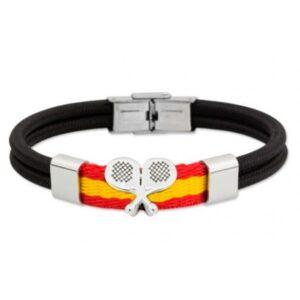 Pulsera con raquetas y la bandera de España