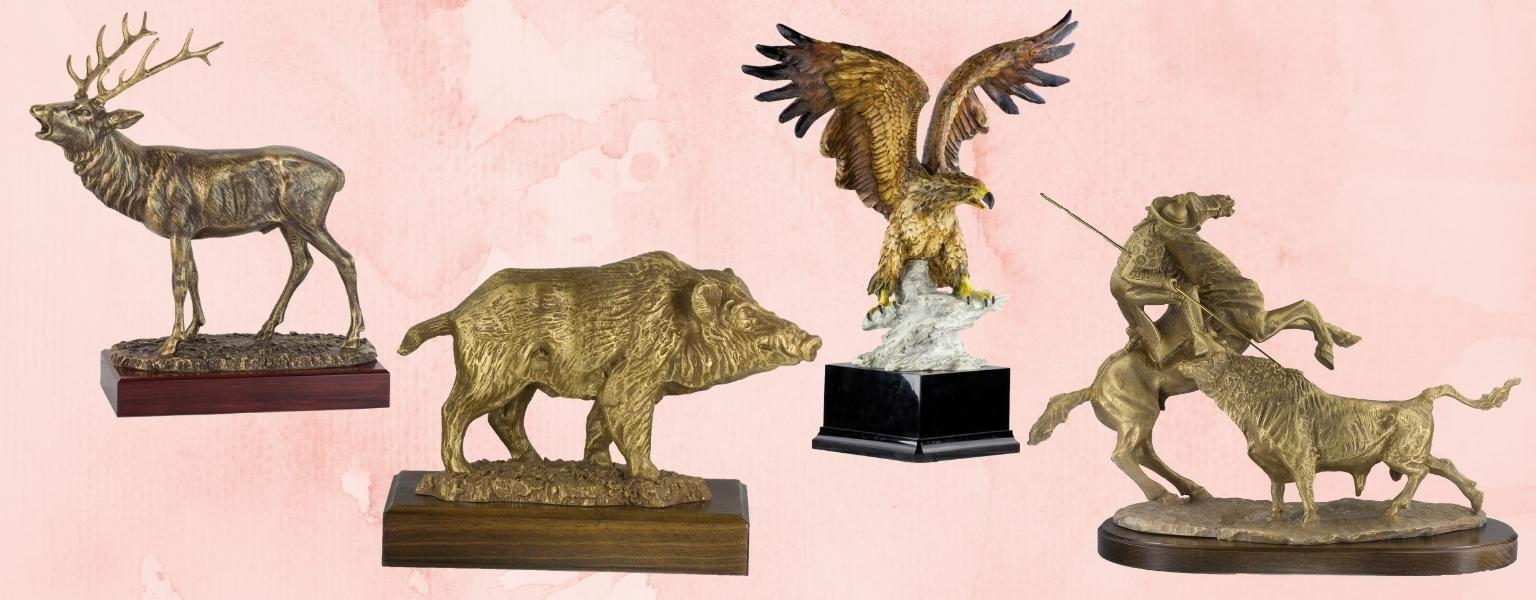 Figuras decorativas de caza